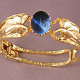 Blue Stone Clamper Bracelet