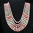 Pink Multi-strand Necklace