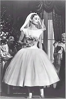 Audrey Hepburn in a 50s wedding dress