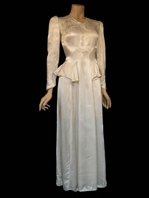WWII Bride Gown