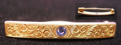Victorian 14k Gold Bar Pin
